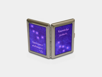 Cigarette Case - Knowledge Protects
