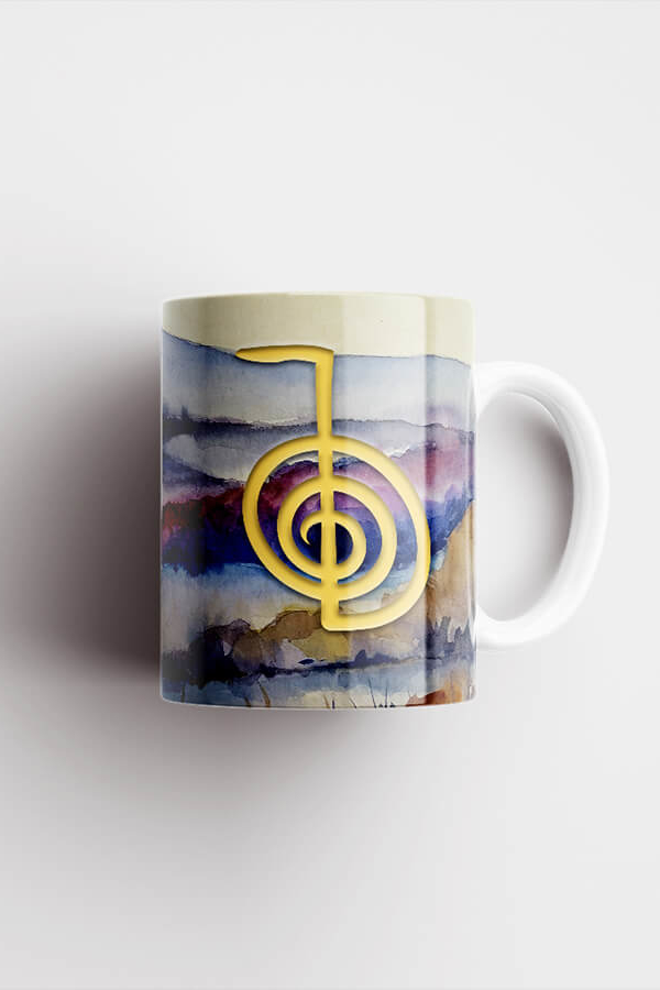 Reiki Mug – Cho Ku Rei, Watercolor