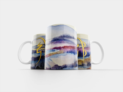 Reiki Mug – Sei He Ki, Watercolor