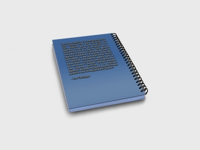 Cuaderno - La vida es religión contratapa