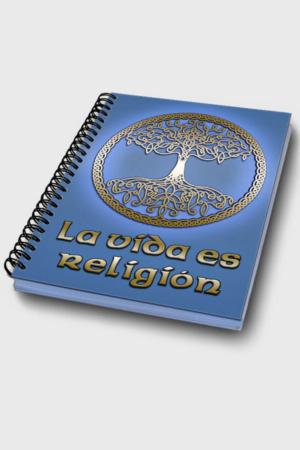 Cuaderno - La vida es religión tapa