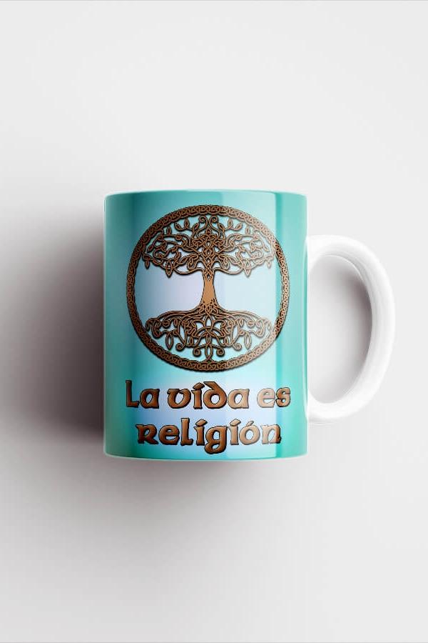 Taza verde - La vida es religión